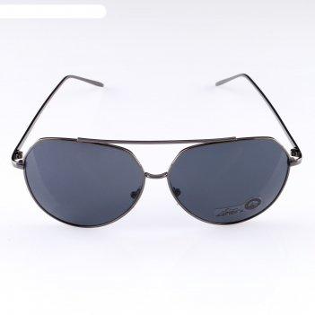 Очки солнцезащитные меро, uv 400, дужки тонкие, линзы черные, 4х14х5 см