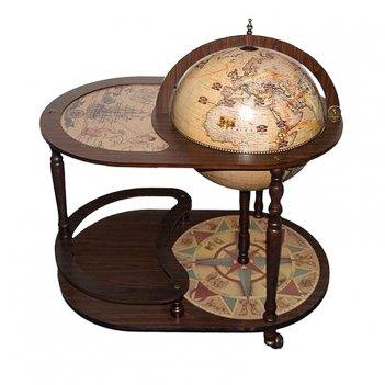 Глобус-бар напольный со столиком d 42
