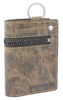 Портмоне wenger arizona, с ключницей, коричневый, воловья кожа, 9×3&#
