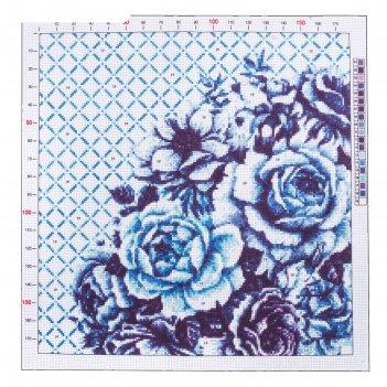 Канва для вышивания с рисунком «розы», 41 x 41 см