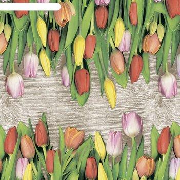 Клеенка столовая photoprint 140 см, рулон 20 п.м., 720 тюльпаны