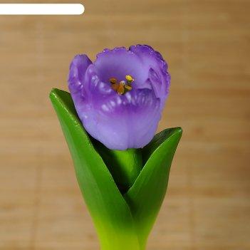 Силиконовая форма для мыла тюльпан на стебле
