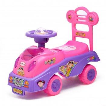 Толокар машинка для девочки с музыкой