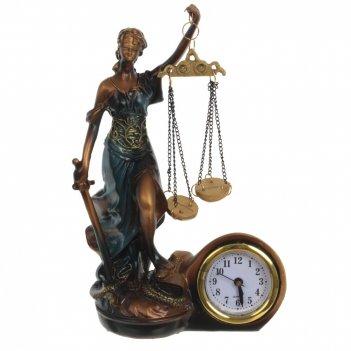 Фигурка декоративная фемида с часами, l13 w6 h19 см