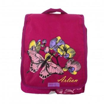 Рюкзак молодёжный на молнии, цвет малиновый
