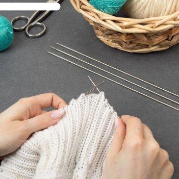Спицы для вязания чулочные, d = 2,5 мм, 25 см, 5 шт