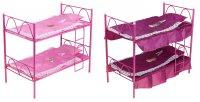 Кроватка для кукол 8 двухъярусная, цвета микс