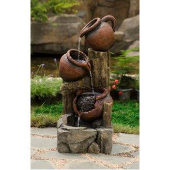 Декоративный фонтан для сада  кувшины