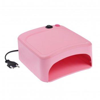 Лампа для гель-лака luazon luf-10, uv, 36 вт, матовая, розовая