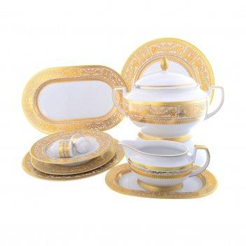 Столовый сервиз на 6 персон 27 предметов diadem white creme gold