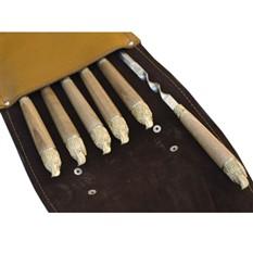 303кк6 шампура подарочные 6 шт. вколчане изнатуральной кожи (орел)