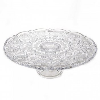 Тарелка для торта на ножке crystalite bohemia miranda 31см