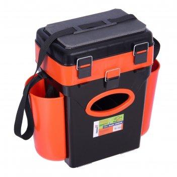 Ящик зимний helios fishbox 10л, цвет оранжевый