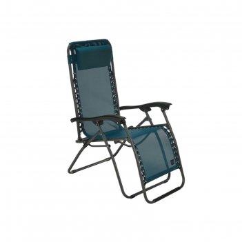 Кресло-шезлонг складное gogarden fiesta, 94 x 69 x 112 см, цвет синий
