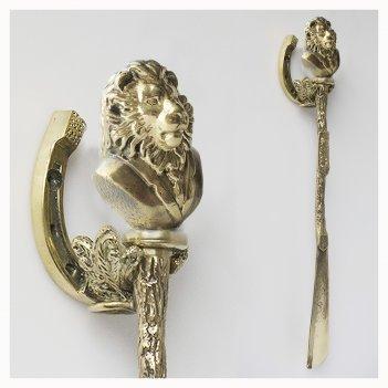 Подарочная ложка для обуви лев джентльмен