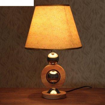 Лампа настольная будущее в вечном е27 220в светлое дерево 44,5х28х28 см