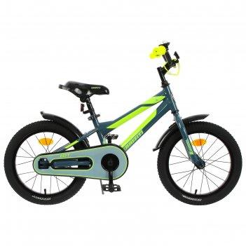 Велосипед 16 graffiti deft, цвет серый/салатовый