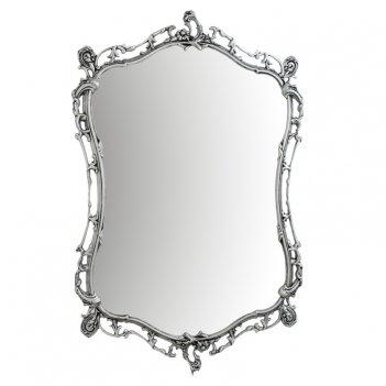 Зеркало в прихожую настенное бикош бронза с покрытием  серебро
