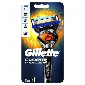Бритва gillette fusion5 proglide, 2 сменные кассеты