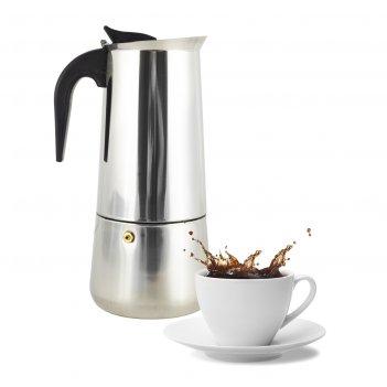 Кофеварка гейзерная 300 мл (6 порций) из нержавеющей стали ofenbach nb-101