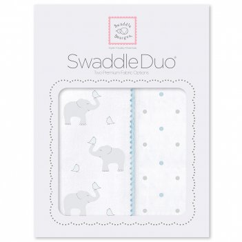 Набор пеленок swaddledesigns swaddle duo swaddle duo pb elephant/chickies