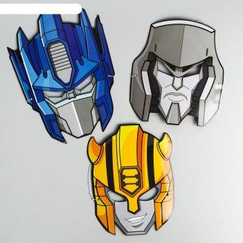 Набор карнавальных масок микс, 3 шт, transformers