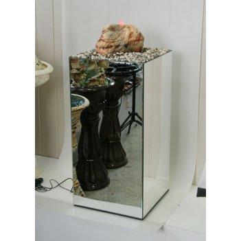 Напольный фонтан «зеркальный» с оранжевой подсветкой