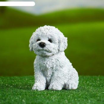 Садовая фигура щенок вестхайлендского терьера