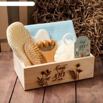 Набор подарочный nice day полотенце и аксс (6 предм)