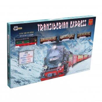 """Железная дорога """"pequetren"""" (1 локомотив, 3 вагона, тоннель, све"""