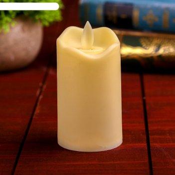 Свеча светодиодная пламя горит желтым, цвета микс, модель св-16