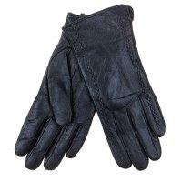 Перчатки женские collorista р-р 24-8 окантовка черные, натуральная кожа
