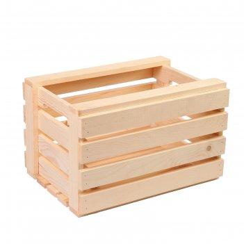 Ящик для овощей и фруктов, 40 x 30 x 25 см, деревянный