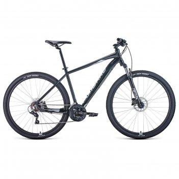 Велосипед 29 forward apache 3.2 disc, 2021, цвет черный матовый/серебристы