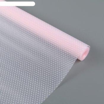 Коврик противоскользящий 30х150 см круги, цвет розовый, прозрачный