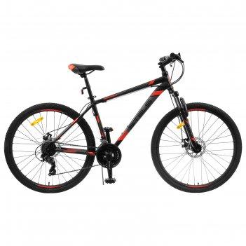 Велосипед 27,5 stels navigator-700 md, f010, цвет черный/красный, размер 1