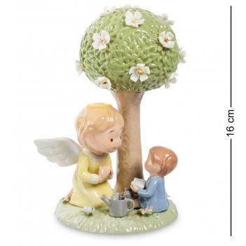 Cms-11/43 статуэтка ангел и мальчик (pavone)