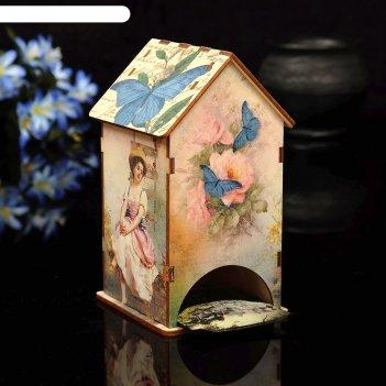 Чайный домик сад с уф-печатью, 8,5х9,5х16см