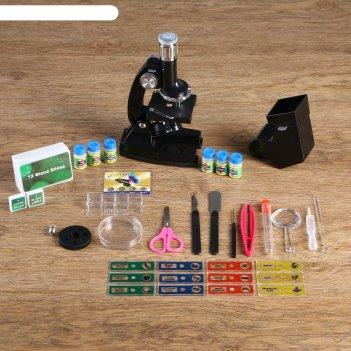Микроскоп сувенирный наука х1200, набор для исследований