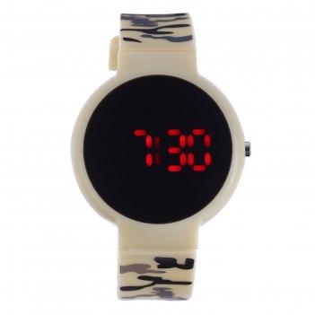 Часы наручные ройстон, электронные, с силиконовым ремешком, l=23 см, микс