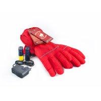 Перчатки, с подогревом redlaika rl-p-02, akk красные, s/m, до 6 часов, 340
