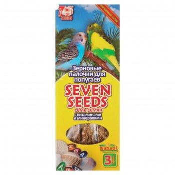 Палочки seven seeds для попугаев, витамины и минералы, 3 шт, 90 г