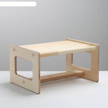 Табурет-подставка детский 190*250*350мм, береза в лак