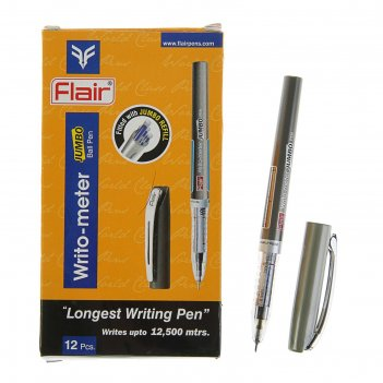 Ручка шариковая flair writo-meter jumbo узел-игла 0.5мм, (пишет 12 км) чер