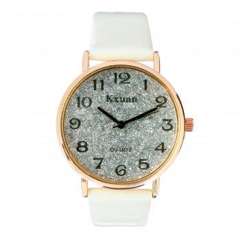 Часы наручные женские kx -  гламур d=3.5 см, белые