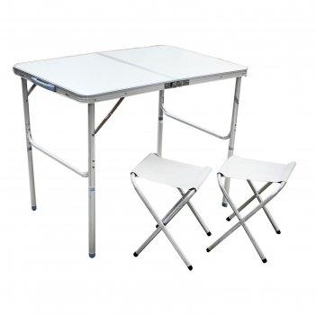 Набор мебели туристический, складной (стол 90х60х70 см, 2 стула)