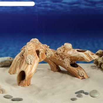 Аквадекор-грот для аквариума коряга двойная  32х21х25 см