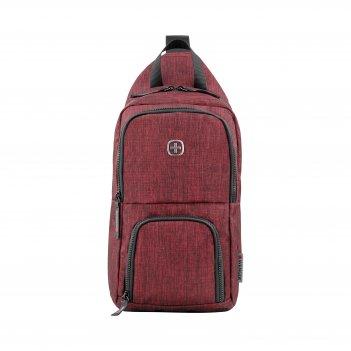 Рюкзак wenger с одним плечевым ремнем, бордовый, полиэстер, 19 х 12 х 33 с