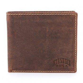 Бумажник klondike yukon, натуральная кожа в коричневом цвете, 11 х 2 х 9,5