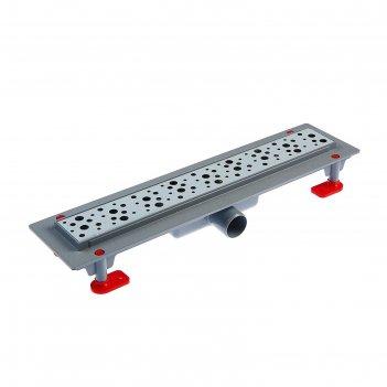 Трап ани tlq1345g, d=40 мм, линейный, решетка бриз сталь глянец, 450х62 мм